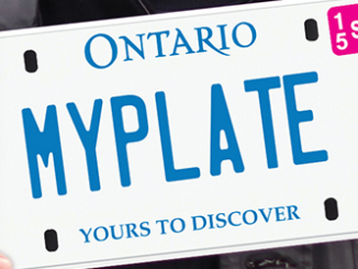 ontario drivers license plate